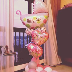 it's a girl! #baby #girl #balloons #sgig #singapore