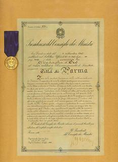 medaglia d'oro Citta di Parma