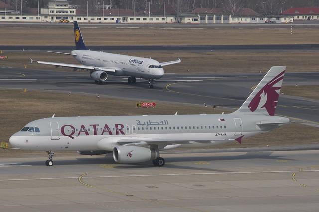 Qatar Airways Airbus A320-232; A7-AHW@TXL;09.04.2013/701bm