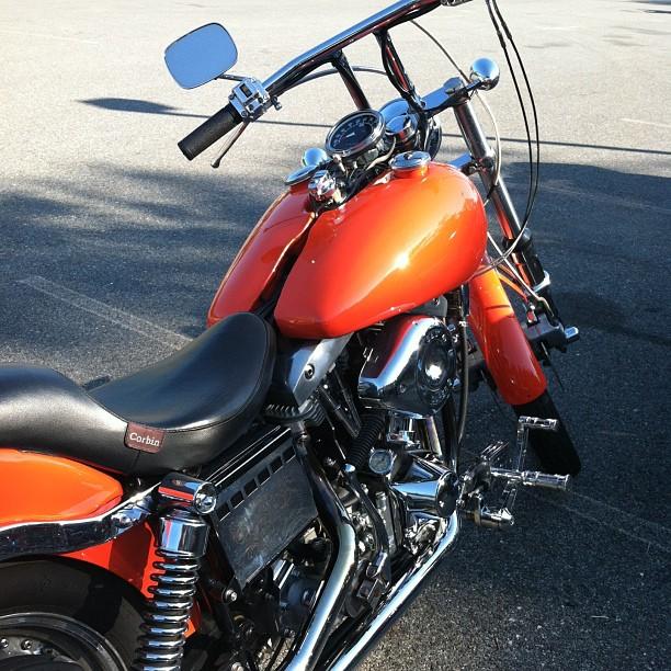Hubs' Harley Davidson motorcycle