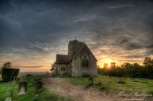 sunset church spring nikon dramatic gimp surrey guildford tamron hdr d300 stmarthas photomatix 1024mm