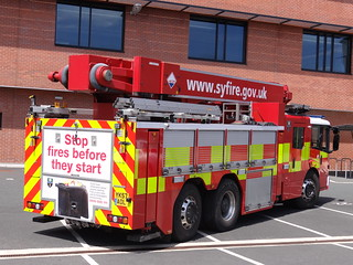 South Yorkshire Fire & Rescue Service Mercedes Econic Combined Aerial Rescue Pump