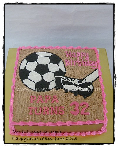 football cake for papa