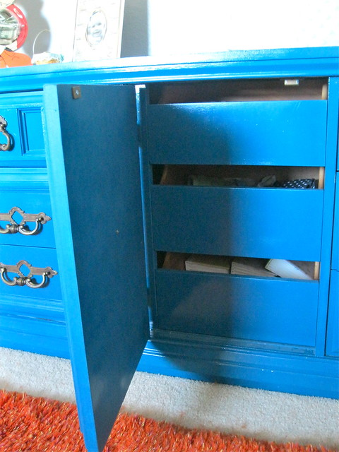 teal dresser after 1