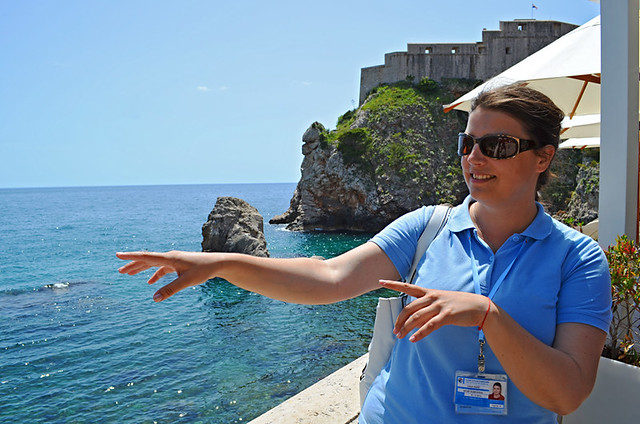 Ivana under the Red Keep, Game of Thrones tour, Dubrovnik, Croatia