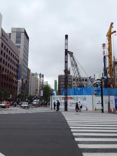 ソニービルの向かいは工事現場 by haruhiko_iyota