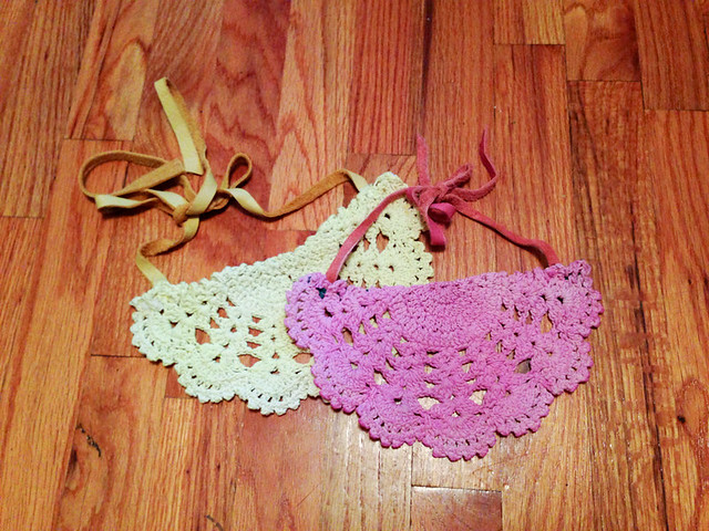 DIY Lace Doily Bib Necklace