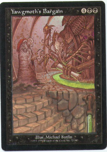 Yawgmoth's Bargain Altered Art Magic the Gathering MTG art card