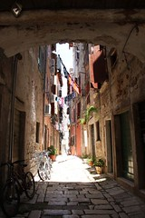 The alleyways of Rovinj