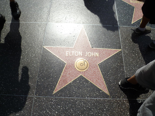 Elton John's star in Hollywood