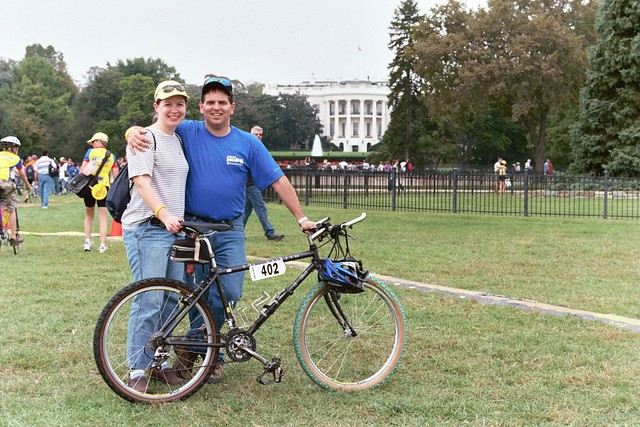 Dave and Kathleen Aiello in Front of the White House