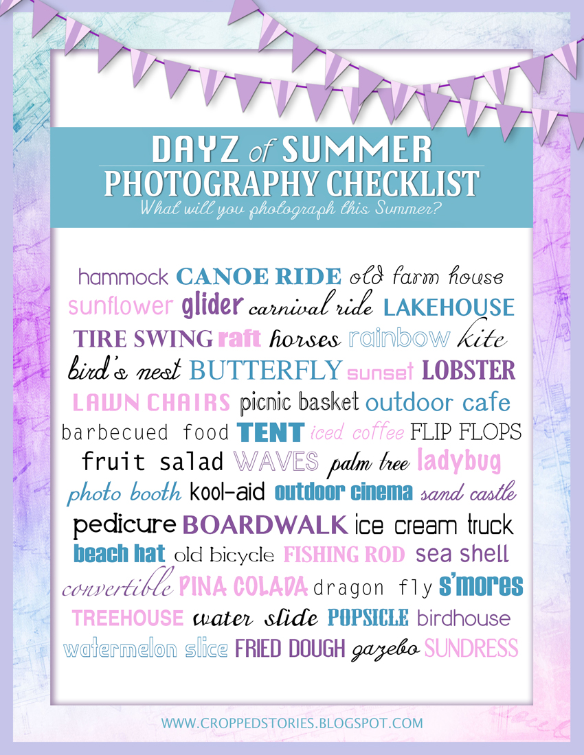 Days of Summer Photography Checklist