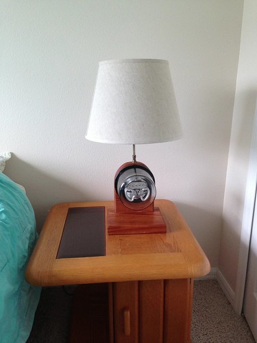 Electric Meter Lamp Restoration Before And After