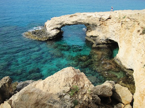 Rock bridge, Ayia Napa sea caves | by @CyprusPictures