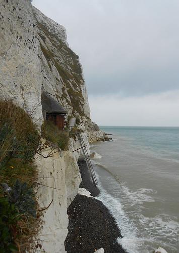 Langdon Searchlights Battery au pied des White Cliffs (Photo de Fred)