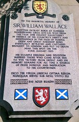 Photo of William Wallace stone plaque