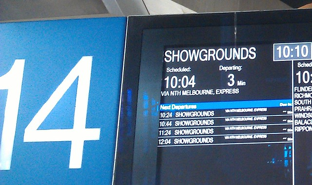 Trains to PAX Australia at the Showgrounds: infrequent, and delayed
