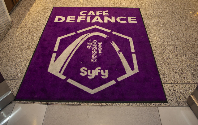Defiance Cafe - welcome mat