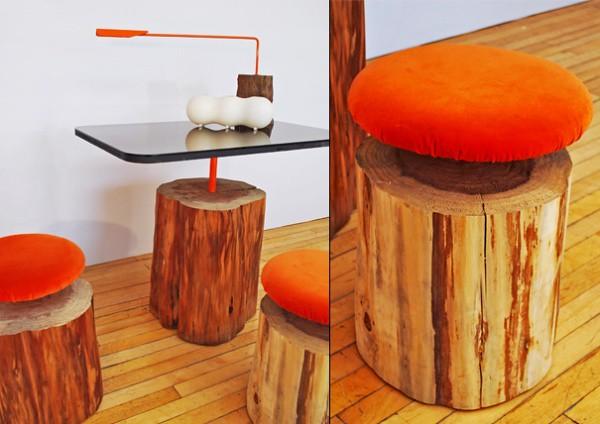 Como hacer espectaculares muebles con troncos viejos for Muebles con troncos