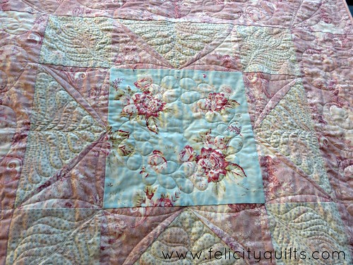 Vintage Star quilting closeup
