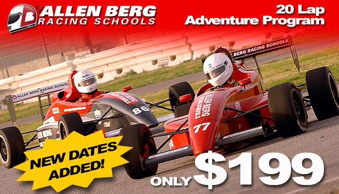 Allen Berg Racing School 20 Lap Adventure Program K1