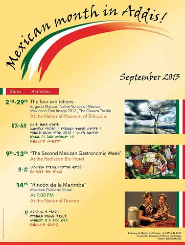Información de las actividades de la segunda edición del Mes de México en Addis Abeba, Etiopia.