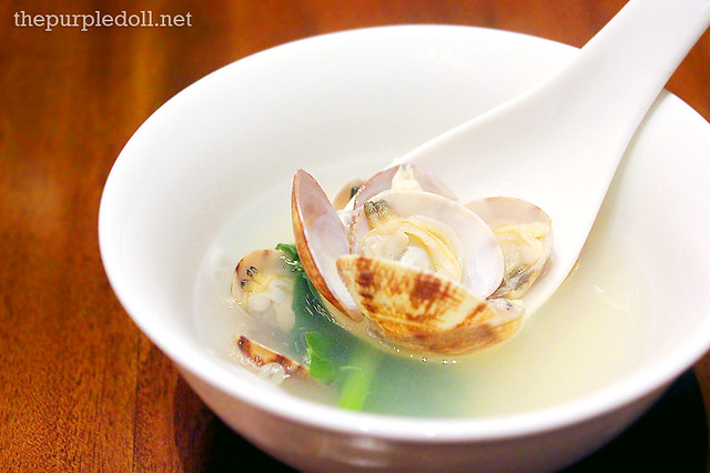Clam Soup in Hot Stone Bowl