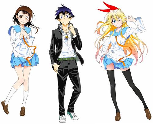 130902(2) - 電視動畫《ニセコイ》(偽戀)將在2014年1月開播,「男女主角」動畫造型設計師&七人聲優陣容公開!