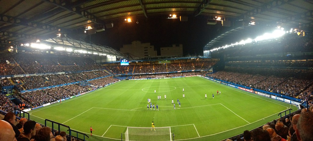 First ever football match. Chelsea vs Basel courtesy of Bob Barton.
