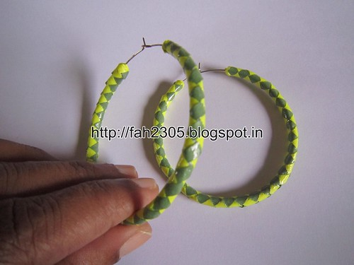 Handmade Jewelry - Paper Hoop Earrings  (8) by fah2305