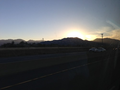 The Rockies, at sunset, Boulder