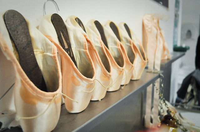 Backstage in the corps de ballet dressing room