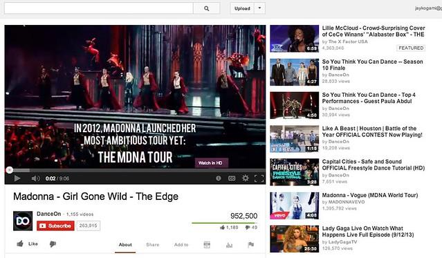 Madonna - Girl Gone Wild - The Edge - YouTube