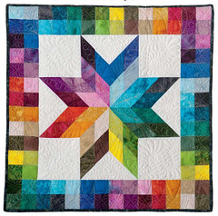 checkerboard rainbow star, by Kimberly Einmo