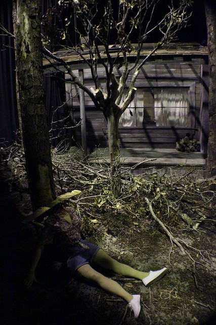 Cabin in the Woods lights-on at Universal Orlando