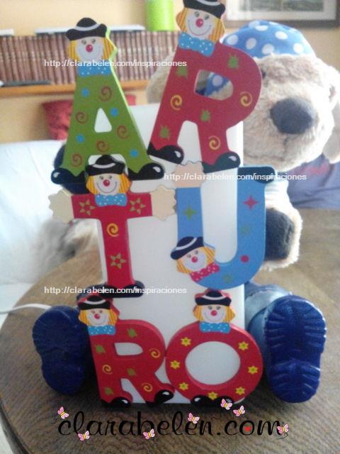 Personalizar regalos bebé_ Lámpara de Arturo