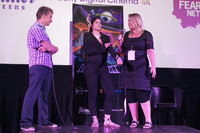"""Nothing Bad Can Happen"" Q&A with Tim League, director Katrin Gebbe, Producer Verena Graefe-Hoeft (r)"