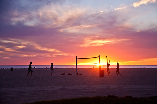 Volleyball on Venice Beach - Los Angeles, CA
