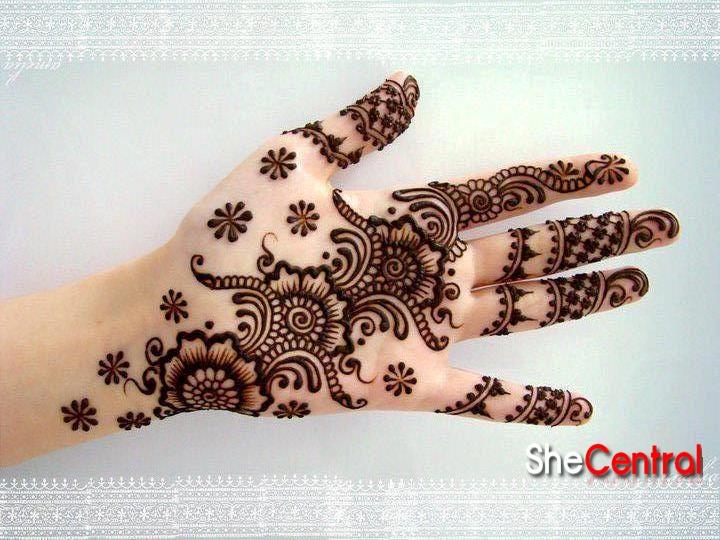 Quick Modern Henna Mehndi Design