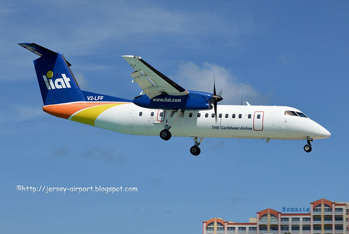 V2-LFF DHC-8-300Q by Jersey Airport Photography