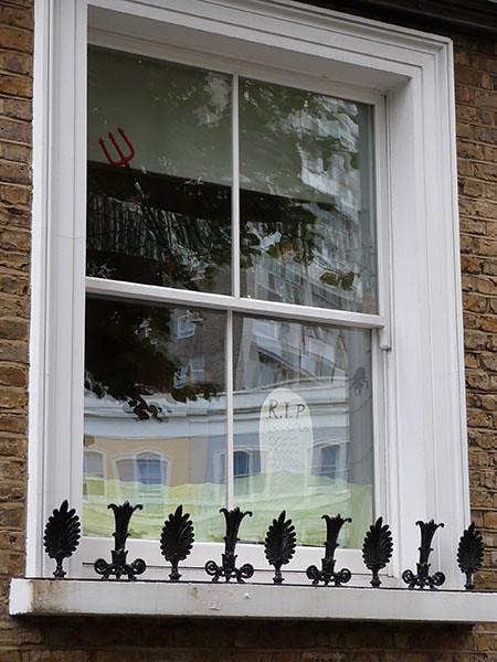 fenêtre Halloween