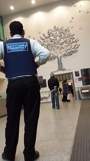 Security at The Royal London hospital Stepney Way entrance E1