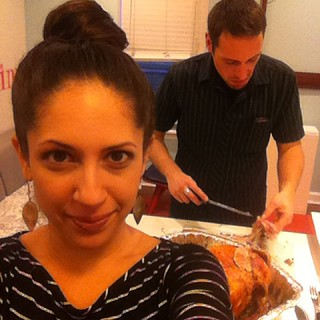 Turkey carving. #firstthanksgiving