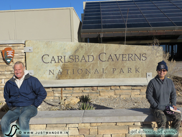 PIC: Front entrance of the Carlsbad Caverns National Park - Visitor Center