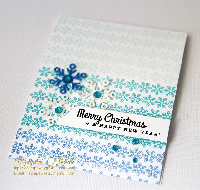 Merry Christmas card closeup!