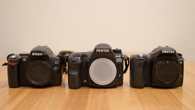 Nikon D40, PENTAX K-3, PENTAX *ist DS