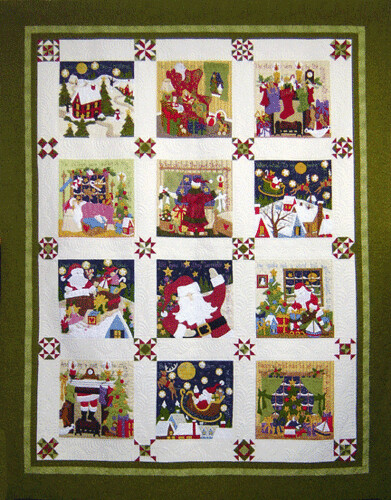 night before christmas, BOM, by Sue Garman, as seen at greatamericanquilt.com