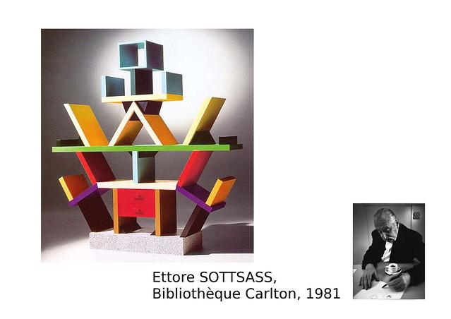 10. SOTTSASS Ettore, Bibliothèque Carlton, 1981