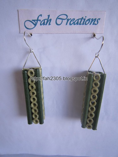 Handmade Jewelry - Paper Quilling Bar Earrings (13) by fah2305