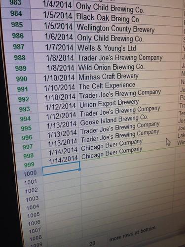 Beer # 1000